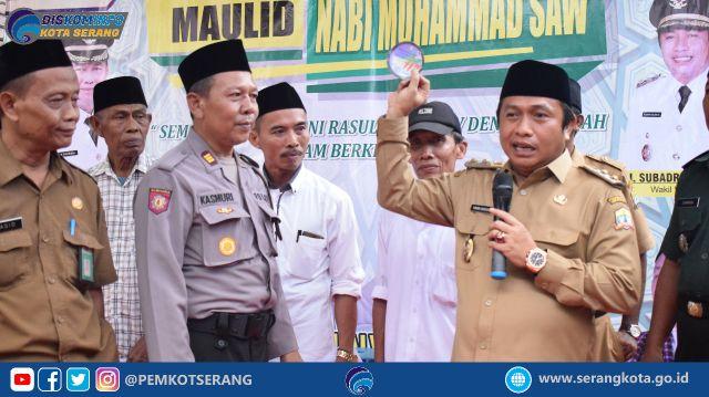 Wakil Walikota Hadiri Peringatan Maulid Nabi Kecamatan Walantaka