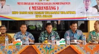 Walikota Serang Hadiri Kegiatan Musyawarah Perencanaan Pembangunan Musrenbang di Kec. Walantaka